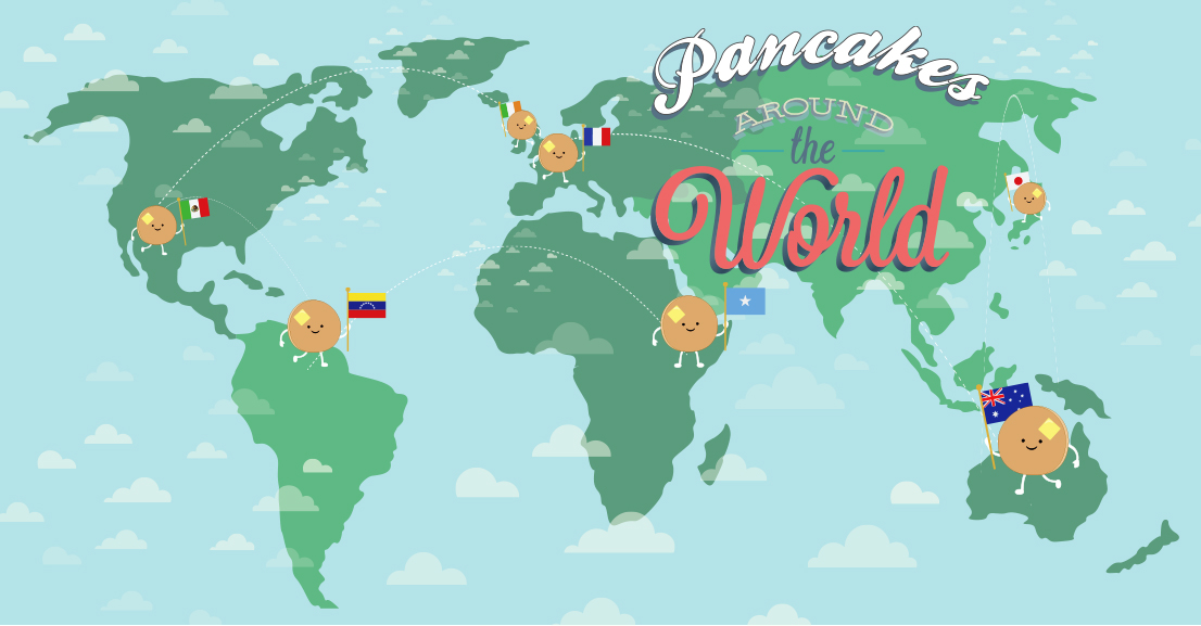 Different kinds of pancakes around the world