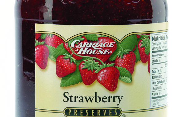 CARRIAGE HOUSE 4 LB STRAWBERRY PRESERVES-CASE OF 6