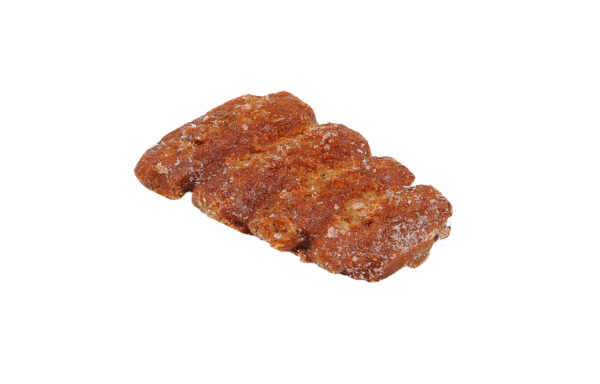 AdvancePierre Fully Cooked Flamebroiled Rib Shaped Beef Pattie with Honey BBQ Sauce, 3.25 oz