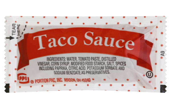 PPI Single Serve Taco Sauce, 9 gr. Packets (Pack of 200)