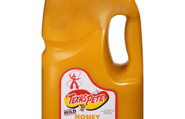 Gallon Texas Pete Honey Mustard is a thick, sweet dipping, glazing sauce.