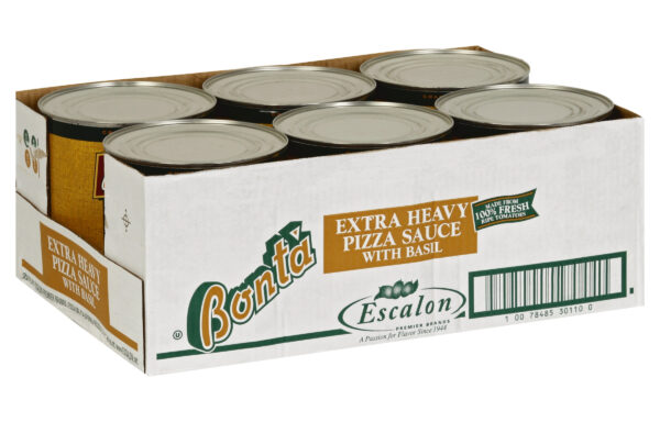Bonta Pizza Sauce with Basil, 107 oz. Can, 6 Per Case