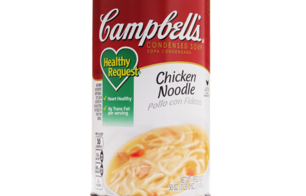 Campbell's Classic Condensed Healthy Request Chicken Noodle Soup, 50 Ounce Cans, 12-Pack